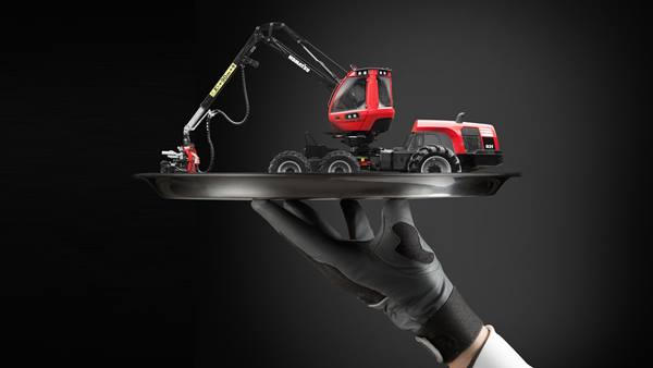 Hand holding mini harvester Proact