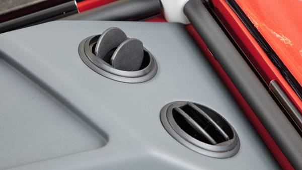 Air exhaust detail in cab