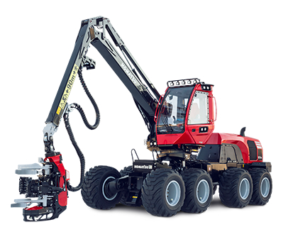 Komatsu 931XC isolated on white background